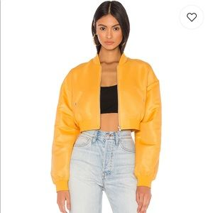 🆕 h:ours Sim Crop Bomber Jacket